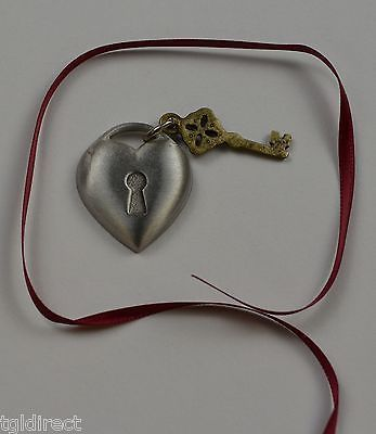 Primary image for Longaberger Key To My Heart Tie-On Collectible Accessory Home Decor Metal