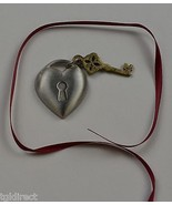 Longaberger Key To My Heart Tie-On Collectible Accessory Home Decor Metal - $11.99