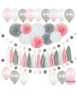 Baby Shower Birthday Party Girl Decorations Set Bridal Decor Kit Premium... - $27.82