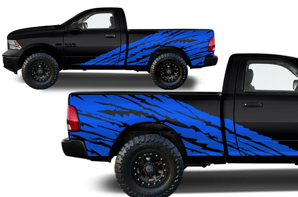 Custom Vinyl Decal Torn Wrap Kit For Dodge Ram 09 18 1500