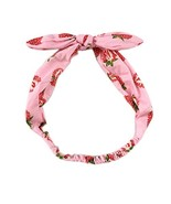 Elastic tightened bow styles fashionable scarf hair band headband (Straw... - $18.82