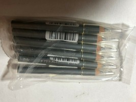 "Lot of 6 New Jordana Silver Eyeliner Pencils 4"" A05 w/Cap Metallic - $6.49"