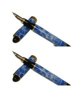Jinhao x 450 G sky blue Marble Fountain Pen Super Flex Zebra Nib Fitted - £10.17 GBP
