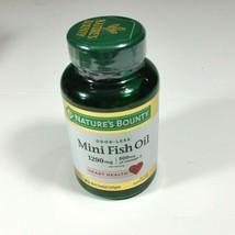 Natures Bounty Mini Fish Oil 1290 mg 90 Odorless Softgels Exp 1/2022 - $14.50