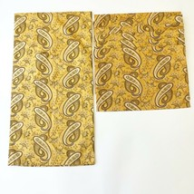 Lot Pottery Barn Gold Yellow Paisley Table Runner 18x70 & 4 Placemats 14... - $44.58