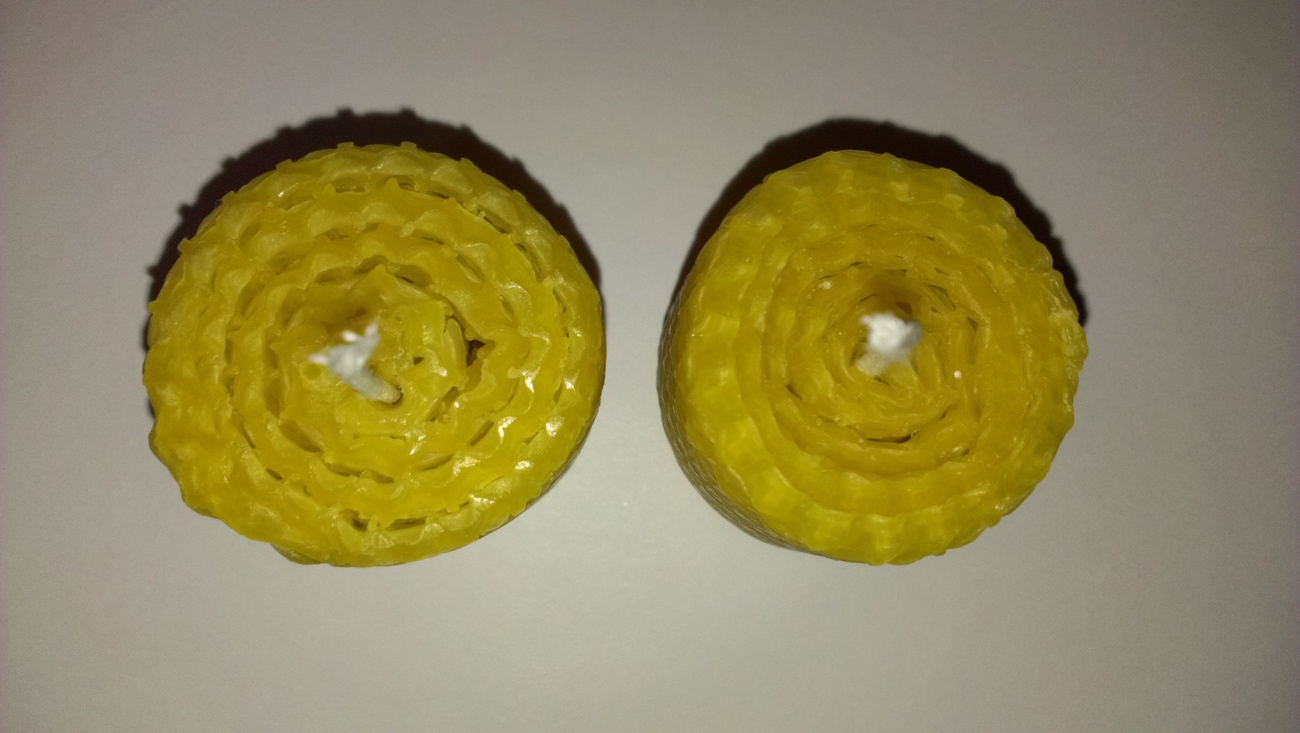Set ORGANIC BEESWAX HONEYCOMB VOTIVE CANDLES 100% Pure Natural Eco Clean Burning