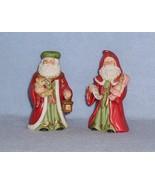 Homco 5610 Olde World Santa Claus 2 Figurines Teddy Bear & Lantern - Dol... - $9.99