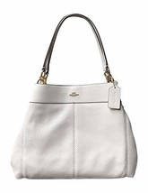 Coach Pebble Leather Lexy Shoulder Bag Handbag (Chalk) - $300.05