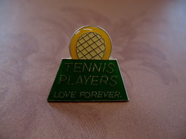 Tennis Players Love Forever Racquet Souvenir Lapel Hat Pin - $4.99