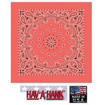 USA MADE Hav-A-Hank HONEYSUCKLE PAISLEY Bandana BANDANNA SCARF Scarve He... - $5.99