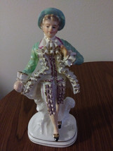 Vintage Made in Occupied Wales Japan Porcelain Figurine Colonial/Victorian Man F image 1