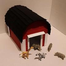 """Handmade Little Ol' Red Barn Model Popsicle Stick Art, 8.5"""" X 7"""" X 6.5 I... - $43.97"""