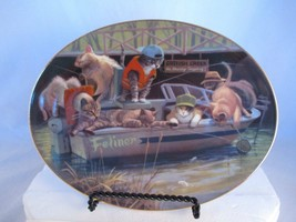 "Franklin Mint ""Cat Fish Creek"" Oval Collector Plate with Box and COA - $9.90"