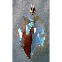 Crystal Leaf Earrings image 7