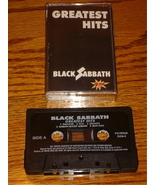 BLACK SABBATH GREATEST HITS ORIGINAL CASSETTE - $48.51