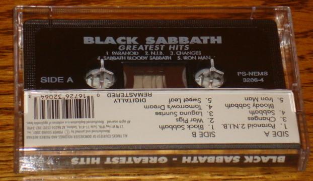 BLACK SABBATH GREATEST HITS ORIGINAL CASSETTE
