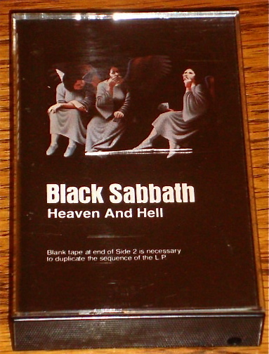 BLACK SABBATH HEAVEN AND HELL ORIGINAL CASSETTE  1980