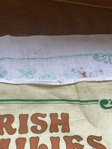 Gently Used Linen Union IRISH Families Yellow & Green Kitchen Towel Wall Hanging image 8