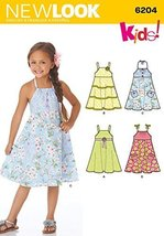 Simplicity Creative Patterns New Look 6204 Child's Dress, A (3-4-5-6-7-8) - $11.27
