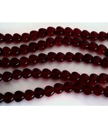50 6 x 6 mm Czech Glass Heart Beads: Garnet - $2.48