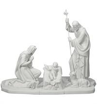 Vista Alegre Portugal Porcelain NATIVITY SET BISCUIT 3 PIECES PF503070 B... - $1,473.85