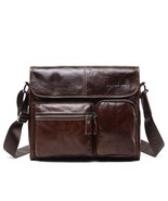 BDF New Series Men Messenger Bag Genuine Cow Leather Cross Body Vintage ... - $54.05