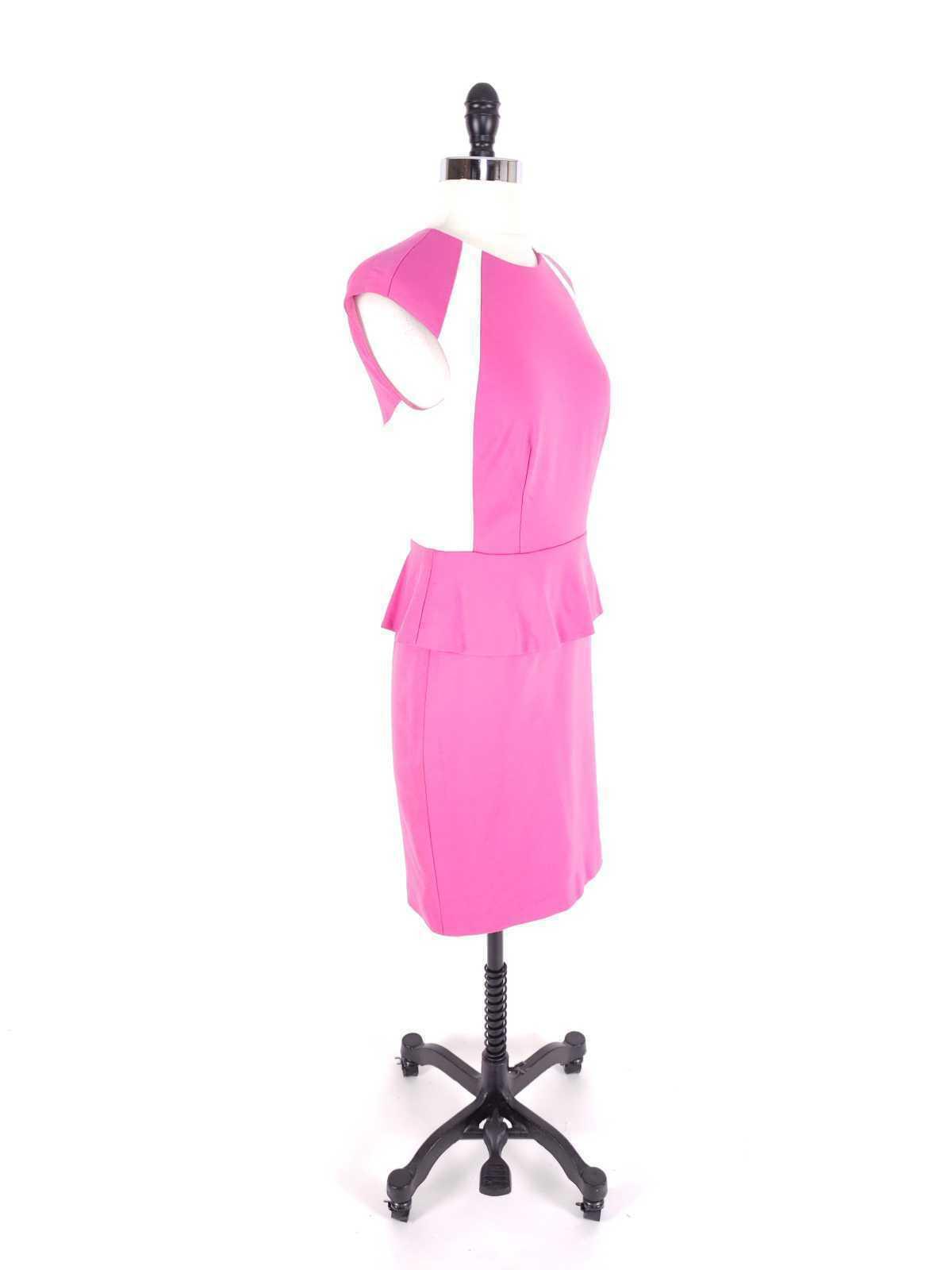 Cynthia Steffe Women Dress Size 2 NWT $198 Peplum Pencil Ponte Knit Sleeveless image 3