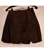 Zara Basic Womens Leather Brown Mini Skirt XS NWT - $49.50