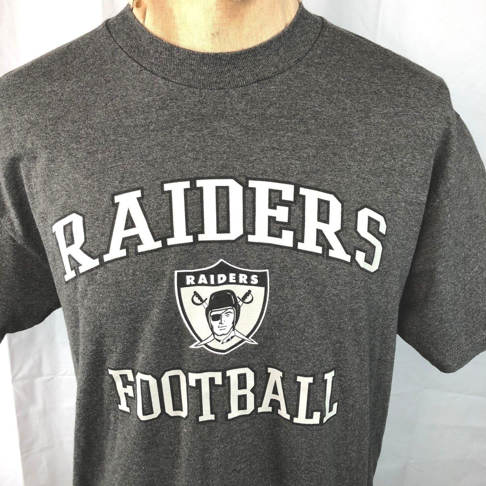 Raiders Football NFL Team Apparel L T-Shirt Large Mens Oakland or Los Angeles