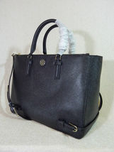 NWT Tory Burch Black Saffiano Leather Large Robinson Multi Tote - $595 image 4