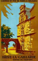 Chemins de fer de Paris Brive Gaillarde Decor Poster. Fine Graphic Desig... - $11.30+
