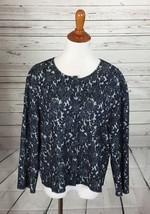 St.John Floral Print Knit Light Cropped Jacket sz XL - $148.49