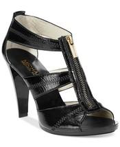 Michael Kors MK Women's Berkley T-Strap Crinkled Patent Dress Sandals Shoes