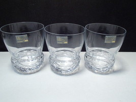 3 Mikasa Crystal Double Old Fashions ~~ unknown pattern ~~ nu old stock ... - $19.99