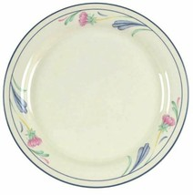 Lenox Poppies On Blue Salad Plates 8 1/2 in Set of 2 Freezer to Oven to ... - $17.75