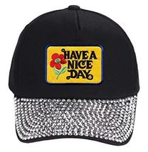 Have A Nice Day Hat - Rhinestone Studded Cap - $18.95