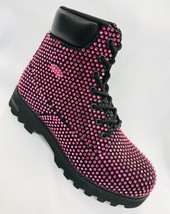 Men's Black | Pink Fashion Rhinestones Boots - $799.00