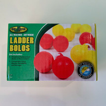 Go Gater Replacement Ladder Toss Bolos Ladder Ball 6 Pack With Storage Bag  - $12.19