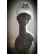 Order of Eastern Star Masonic Inspired Handmade Crochet Hat w/ Brim - $25.00