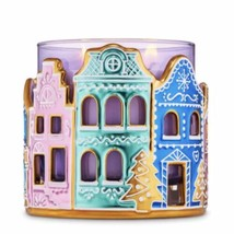New Bath Body Works Holiday Gingerbread Village 3 Wick Candle Holder | Candyland - $19.75