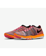 Nike Womens size 12 Free Transform Training Shoe Pink Pow/Total Orange/B... - $58.47