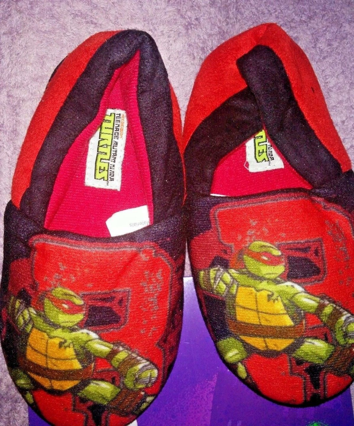NEW Toddler Boys Green TMNT Medium 7-8 Clogs Ninja Turtles Lined Shoes Slip On