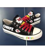 kc chiefs shoe women converse style chiefs sneakers Kansas city fans gif... - $54.89+