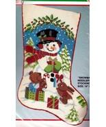 Bucilla Snowman & Animals Bear Bunny Christmas Needlepoint Stocking Kit ... - $124.95