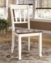 Farmhouse Dining Chairs Set of 2 White Wood Country Cottage Slat Back Se... - $157.60