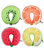 Neck Travel Pillow Fruit U Shaped Head Support Air Cushion Portable Airp... - $15.06 CAD