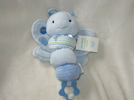 Carters Stuffed Plush Blue Butterfly Bug Insect Crib Pull Toy Brahm's Lullaby - $42.56