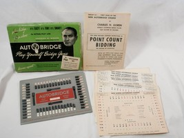 1950 Autobridge Play Yourself Bridge No. PGA 25 Deal Sheets Charles H. G... - $9.80