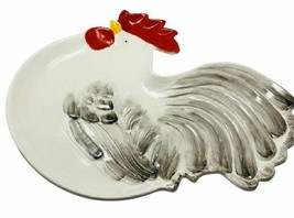 """Rare Vintage OMNIBUS OCI Rooster Shaped Serving Platter Japan 15"""" - $89.09"""