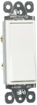 X10 Morris 82051 Decorative Switch, Single Pole, 120V/277V, 15 Amp  White - $22.12